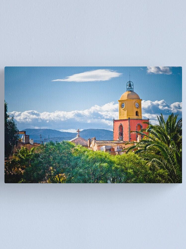 Alternate view of Le clocher de saint tropez Canvas Print