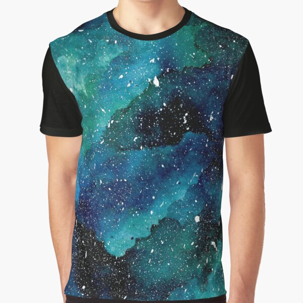 Smaragd-Galaxie Grafik T-Shirt