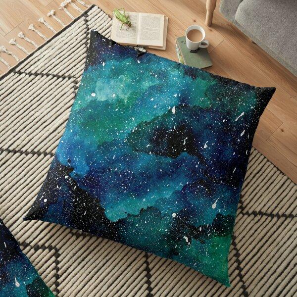 Smaragd-Galaxie Bodenkissen
