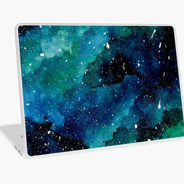 Emerald Galaxy Laptop Skin