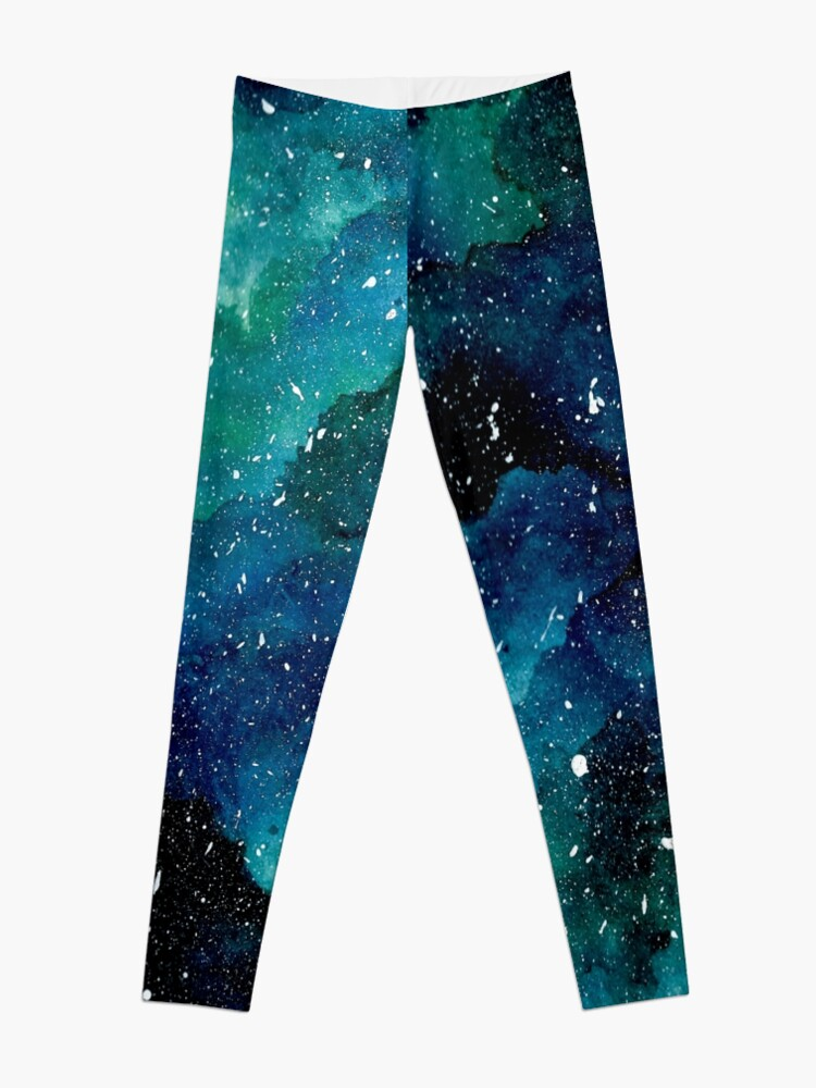 Alternate view of Emerald Galaxy Leggings