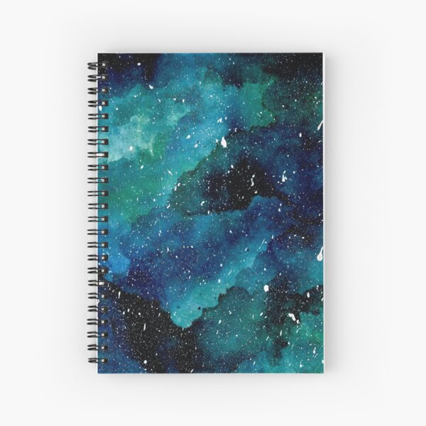 Emerald Galaxy Spiral Notebook