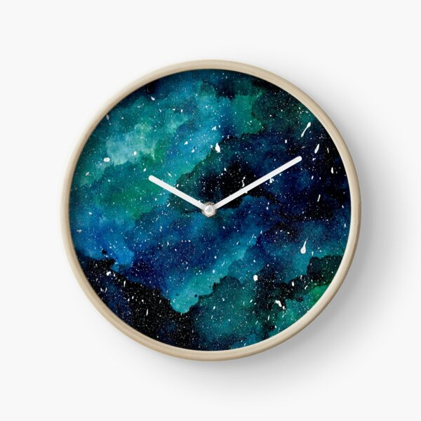 Emerald Galaxy Clock