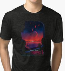 TRAPPIST 1e Another Planet Tri-blend T-Shirt