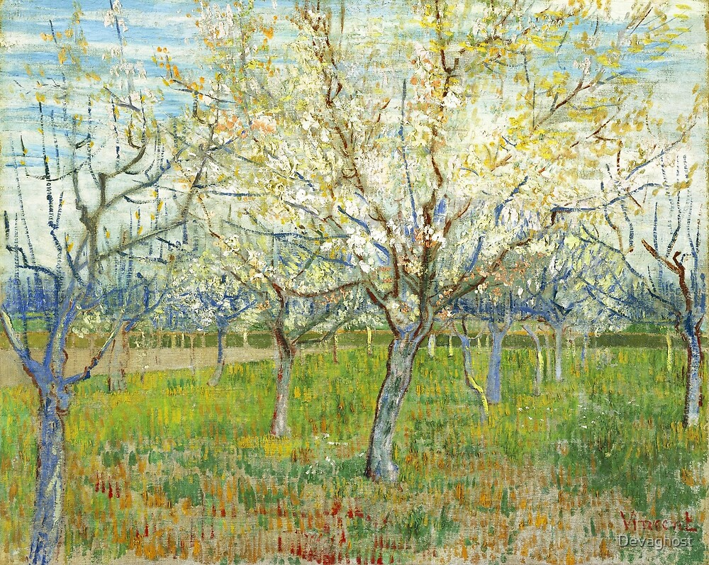 Vincent Van Gogh - The Pink Orchard. by Devaghost