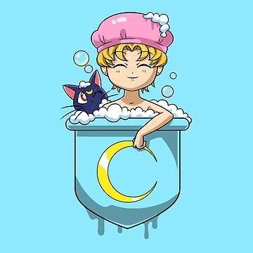 Pocket Usagi Sailor Moon Bath by Purrdemonium