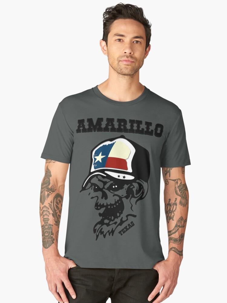 Amarillo Texas - Patriot Design Flag Men's Premium T-Shirt Front
