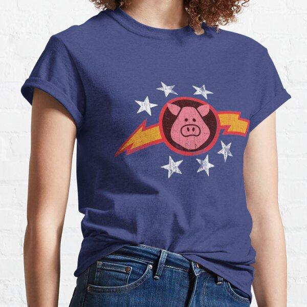 Vintage Schweine im Weltraum Classic T-Shirt