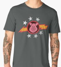 Vintage Pigs in Space Men's Premium T-Shirt