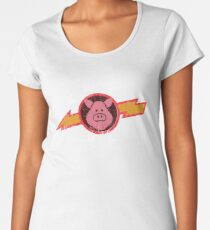 Vintage Pigs in Space Women's Premium T-Shirt