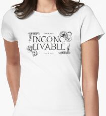 Inconceivable Floral and Scroll Quote Graphic T-Shirt