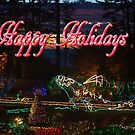 Shore Acres Holiday Lights Whale - Happy Holidays by MyDigitalOregon