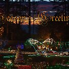 Shore Acres Holiday Lights Whale - Season's Greetings by MyDigitalOregon