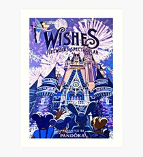 Wishes! Nighttime Spectacular Poster Art Print