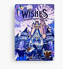 Wishes! Nighttime Spectacular Poster Canvas Print