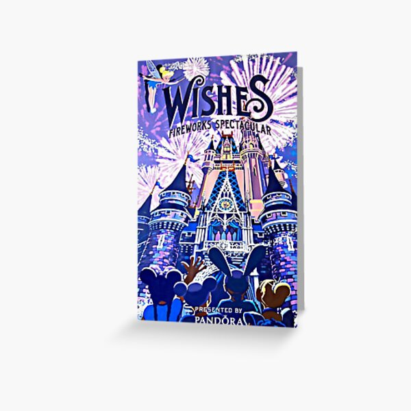 Wishes! Nighttime Spectacular Poster Greeting Card