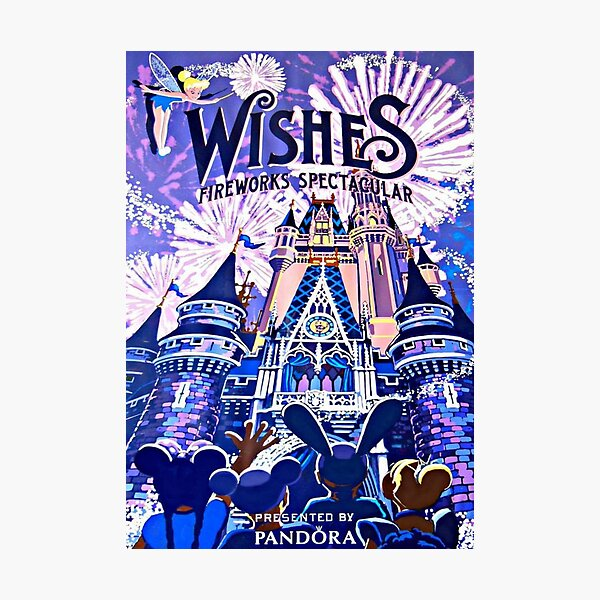 Wishes! Nighttime Spectacular Poster Photographic Print