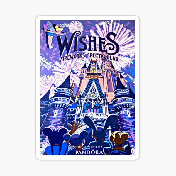 Wishes! Nighttime Spectacular Poster Sticker