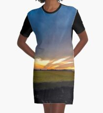 Day to Dusk Convergence Graphic T-Shirt Dress