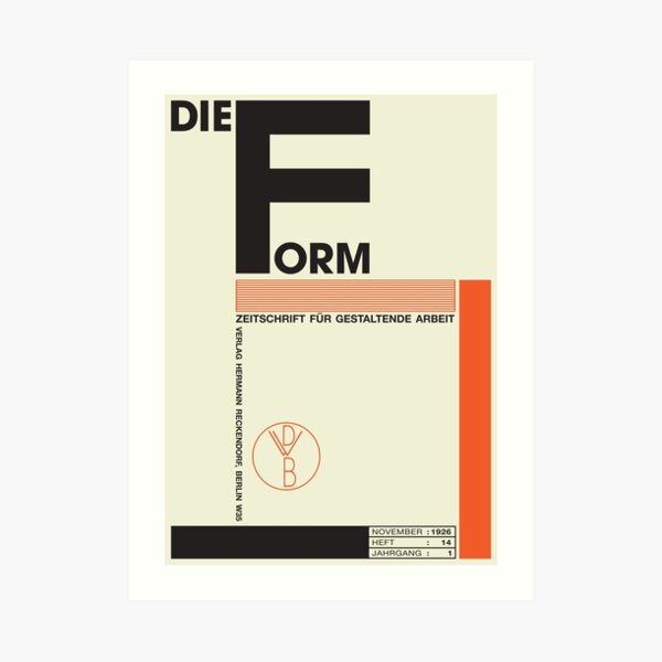 Bauhaus#1 Art Print