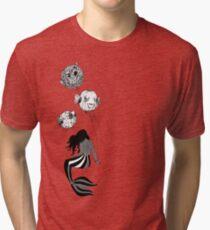Circus Mermaid & Balloon Fish Tri-blend T-Shirt
