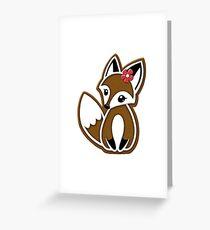 Gingerbread Fox Greeting Card