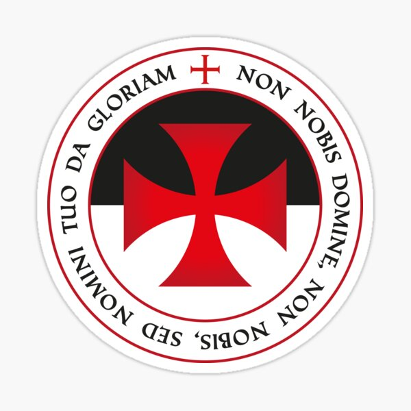 The Knights Templar Cross Christian Crusader Seal Motto Tee Sticker
