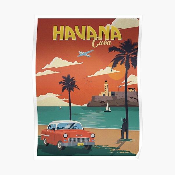 Havana Cuba Retro Poster  Poster