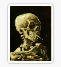 Vincent Van Gogh - Skull with Cigarette. Sticker