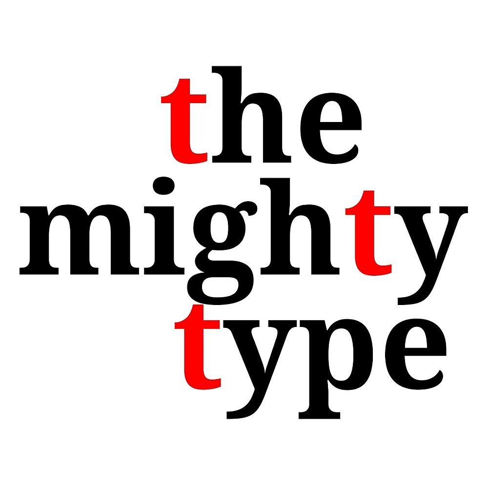 the mighty type RED + BLACK by tantheman