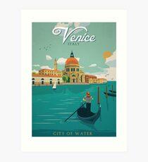 Venedig Italien Stadt des Wasser-Retro- Plakats Kunstdruck