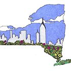 In the art of New York by JillelaineArt