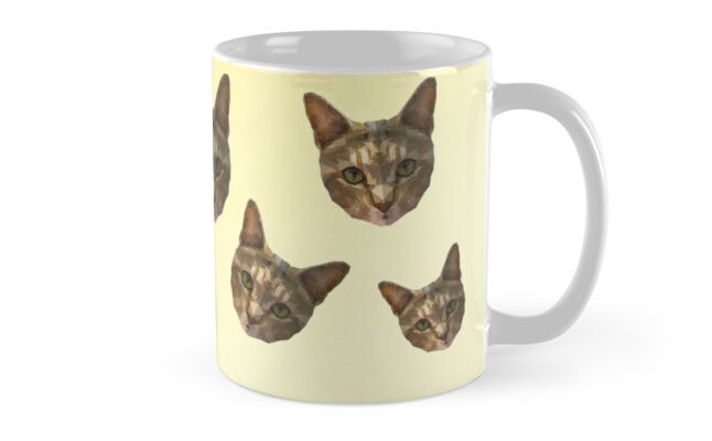 Low poly cat mug scatter by Thebagel
