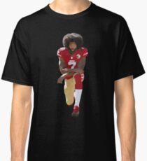Colin Kaepernick Kneeling Low Poly Classic T-Shirt