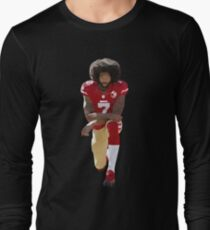 Colin Kaepernick Kneeling Low Poly Long Sleeve T-Shirt