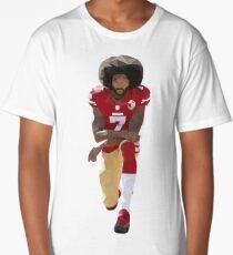 Colin Kaepernick Kneeling Low Poly Long T-Shirt