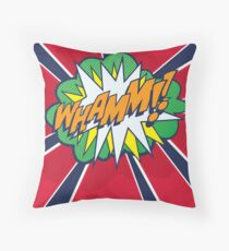 Comic Book Style WHAMM!! Throw Pillow