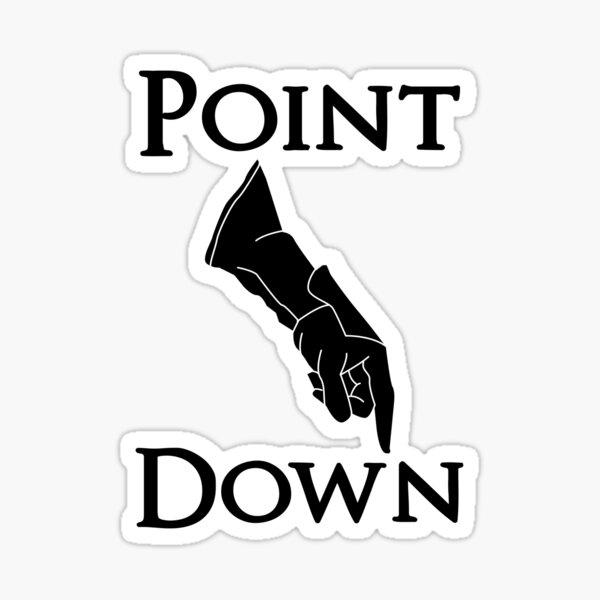DS3 - Point Down Sticker