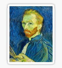 Vincent Van Gogh - Self Portrait. Sticker
