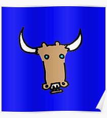 Cow Bull (poster size) Poster