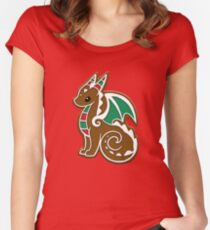 Gingerbread Dragon Women's Fitted Scoop T-Shirt