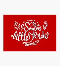 Santas Little Ride Photographic Print