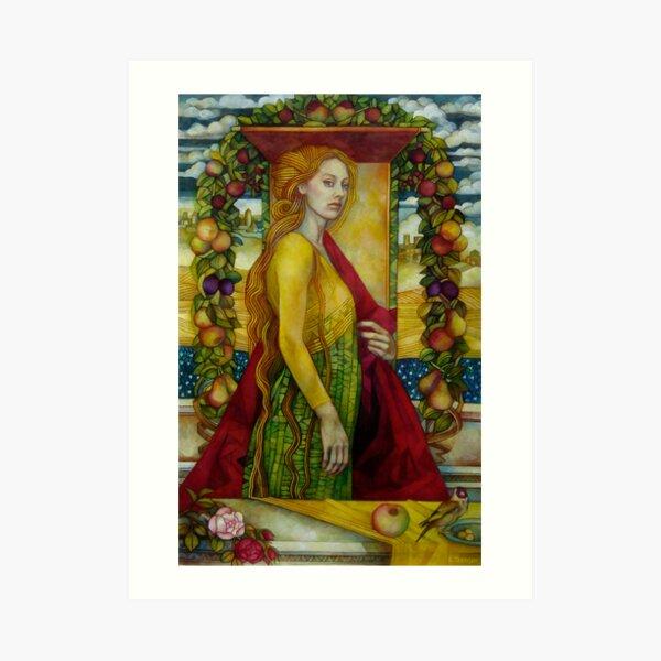 homage to Carlo Crivelli (XV century - born in Venice) Art Print