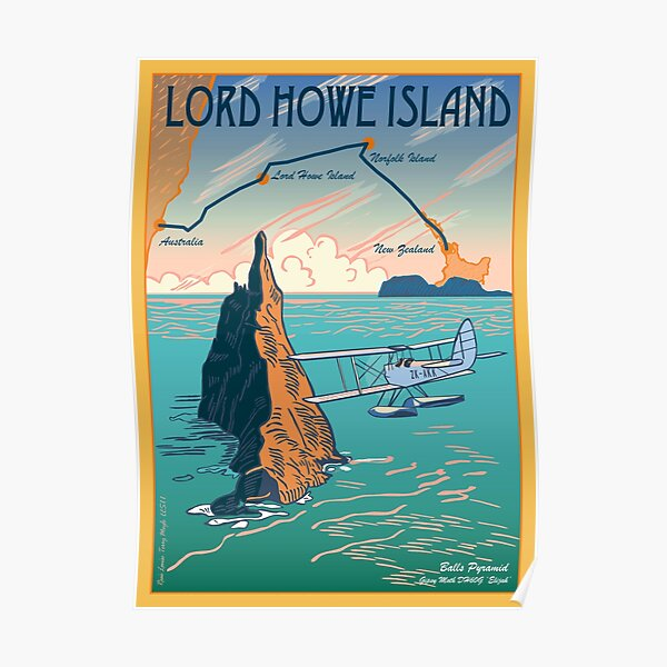 Lord Howe Island Francis Chichester's Gipsy Moth Poster