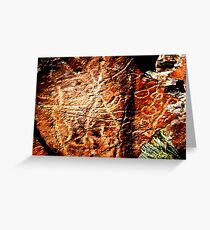 Pictographs or rock scratches Greeting Card