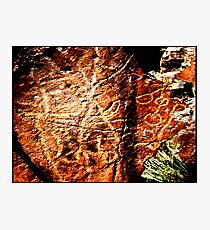 Pictographs or rock scratches Photographic Print