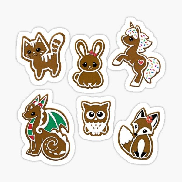 Gingerbread Beasties Sticker