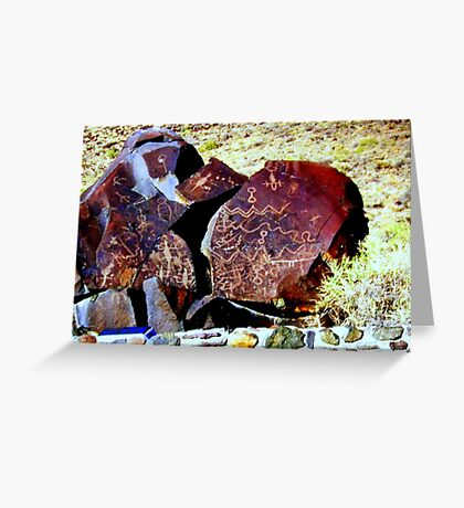 Bizarre Hart Mountain pictograph Greeting Card