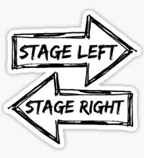 Stage left stage right Sticker