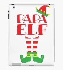 Papa ELF Christmas season T-Shirt Dad's Mom's Matching Tee iPad Case/Skin